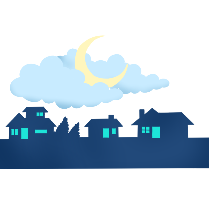 night time graphic