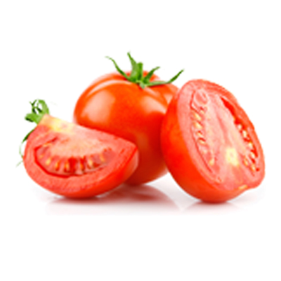 Whole Tomato and Sliced Tomato
