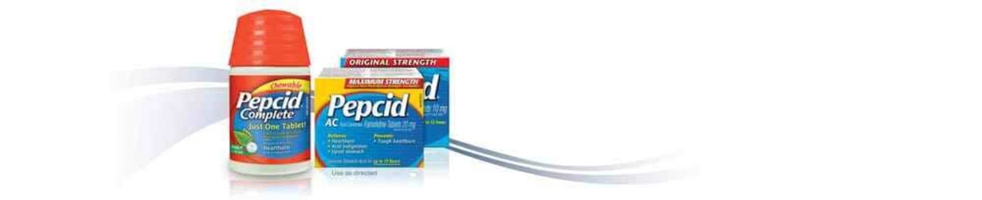 Pepcid Complete, Pepcid AC Maximum Strength and Pepcid AC Original Strength