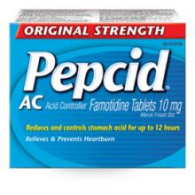 Pepcid AC Original Strength packaging