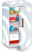 fridge graphic rendition