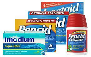 Pepcid, Imodium, and Lactaid Products for Digestive Relief